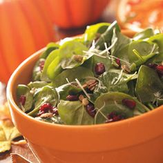 Pumpkin Seed Spinach Salad Recipe from Taste of Home