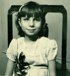 Actress Barbara Streisand in childhood.