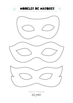 6 models of masks for the carnival - Jessica Marro - - 6 modèles de masques pour le carnaval Here are 6 models of masks to print for carnival. Mardi Gras, Diy With Kids, Theme Carnaval, Carnival Crafts, Carnival Ideas, Carnival Outfits, Carnival Makeup, Halloween Disfraces, Camping Crafts
