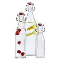 Our Square Glass Bottles have hermetic closures that helps preserve the fresh taste of oils, vinegar, dressing, sauces and beverages.