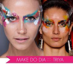 Melhores do dia 5, Fashion Rio, Verão 2013, Reserva, Triya, Desfile, maquiagem, Max Weber, Flash mob, pintura facial, folhas de ouro