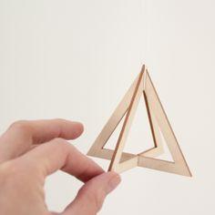 SNUG.TRIO - set of 3 wooden pendants