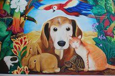 Ed Abillano: Today's Street Art - Everyone's Pets Naive Art, Mural Art, Street Art, San Francisco, Pets, Painting, Animals, Design, Animals And Pets