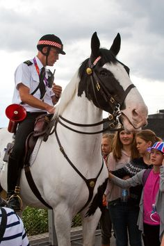 Mounted police on duty at London 2012.