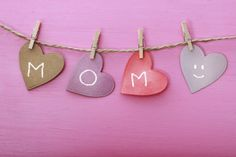 Mothers day message on paper hearts - Stock Photo , Mothers Day Crafts, Happy Mothers Day, Mother Day Gifts, Paper Hearts, Men And Babies, Mother Day Message, Massage, Bethenny Frankel, Clothes Line