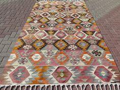 """Anatolia Turkish Antalya Nomads Kilim 67,3"""" x 120,8"""" Area Rug Kelim Carpet #Turkish"""