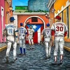Roberto Clemente, Baseball Painting, Puerto Rico History, Puerto Rican Culture, Pittsburgh Pirates, Puerto Ricans, Sports Art, Baseball Players, Mlb