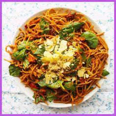 Roast capsicum pesto with pasta - http://homedesignq.com/roast-capsicum-pesto-pasta.html