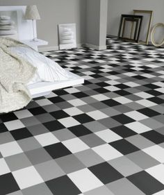 tarkett vinyl flooring | black, white and shades thereof