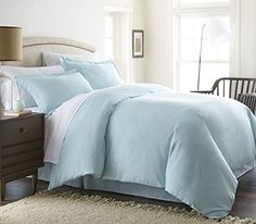 #trendy Enhance and improve your bedroom décor with the all new #Home Collection double-brushed 3-Piece duvet cover set. Tailored for a perfect fit and made with...