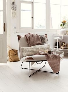 Simple but cozy chair for room