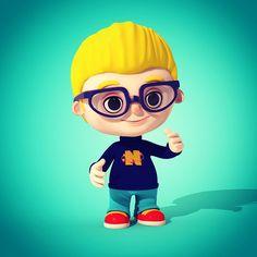 Nerd Boy 3D Character Design.