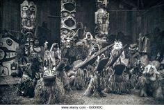 Nakoaktok  Dancers at a Potlach in 1914