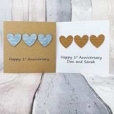 1st anniversary card Paper wedding anniversary card Handmade | Etsy Happy Anniversary Husband, 1st Anniversary Cards, Birthday Cards For Her, Baby Girl Cards, Heart Cards, Wedding Paper, Greeting Cards Handmade, Boyfriends, Your Cards
