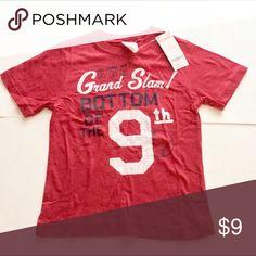 NWT Gymboree Red Baseball Tshirt 5 Size 5 new with tags baseball theme Grand Slam bottom of the 9th red Tshirt Gymboree Shirts & Tops Tees - Short Sleeve