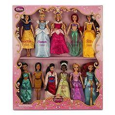 Disney Exclusive Princess Doll Collection - 12''- (11 Dolls:Snow White, Cinderella, Aurora, Ariel, Belle, Jasmine, Pocahontas, Mulan, Tiana, Rapunzel, and Merida) by Disney