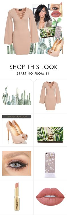 """""""Kim Kardashian inspired"""" by my-designs-my-dream ❤ liked on Polyvore featuring AX Paris, Louis Vuitton, Napoleon Perdis, Lime Crime and Wouters & Hendrix"""