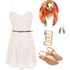 Beachy date by lepresca-torres on Polyvore featuring Monsoon, Silvia Rossi, H&M and Klements
