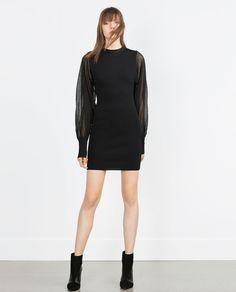 CREPE SLEEVE DRESS-View all-Dresses-WOMAN | ZARA United States