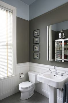 Paint and wainscoting.