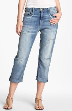 Current/Elliott 'The Weekender' Hand Distressed Jeans (Shipwreck Destroy) available at #Nordstrom