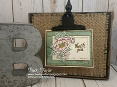 Creating with Becky's Stamping Spot   blog, Stampin' Up!, Birthday Blossoms, Tin of Cards, Watercolors, Thank You