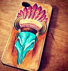WANT THIS NOW! HD west custom painted leather iphone case