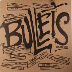 Various – Bullets (Volume One) 1986 Combat Various artist compilation featuring Agnostic Front, Crumbsuckers, Possessed, Megadeth, Impaler + more. Vinyl is NM. / Cover is Vg+ Lp Cover, Cover Art, Record Home, Rare Vinyl Records, Bullets, Various Artists, Usa, Vintage, Megadeth