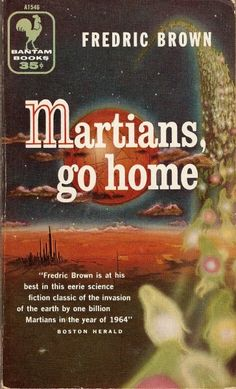 Martians, Go Home (1956 edition), Fredric Brown, cover by Richard Powers
