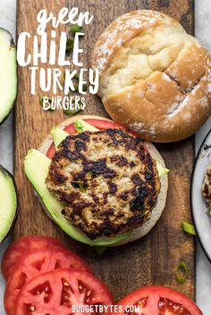 These Green Chile Turkey Burgers can't be beat for a fast, flavorful weeknight dinner. Ready in about 30 minutes and full of southwest flavor. #burgers #turkeyburgers #grillrecipes #healthyrecipes #easydinner #dinnerrecipes #easyrecipe #easyrecipes