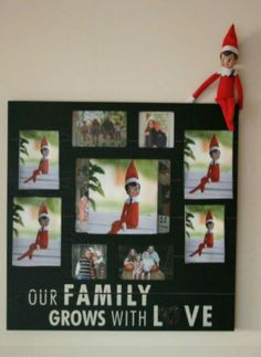 Replace family photos with pictures of elf