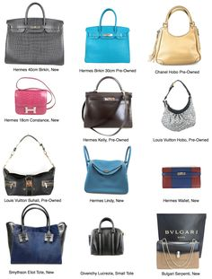 Our current handbag collection www.socialiteauctions.com xoSocialite  #hermes #chanel #louisvuitton #smythson #givenchy # bulgari