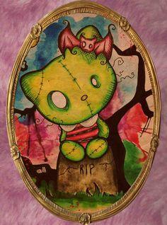 Hello Dead Kitty by MoonlitArtShop on Etsy, $20.00
