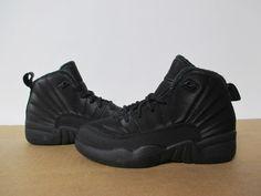 new concept c7d28 3613c BQ6850 001 AIR JORDAN 12 XII WINTERIZED BLACK ANTHRACITE PS PRE SCHOOL 11-3   fashion  clothing  shoes  accessories  kidsclothingshoesaccs  unisexshoes  (ebay ...