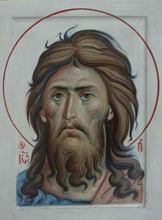 John the Forerunner Byzantine Icons, Byzantine Art, Jean Baptiste, Religious Images, John The Baptist, Orthodox Icons, Catholic, Christ, Mosaic