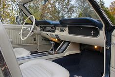 65 mustang convertible white interior - Google Search