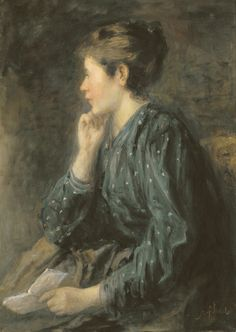 La lettre Olieverf/doek 1880-99, Jozef Israels – Kunstgalerij Albricht