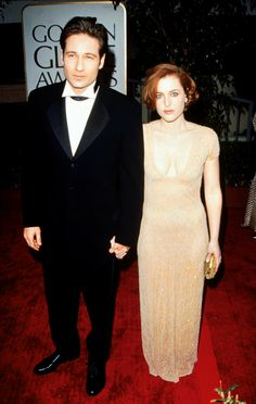 Just hours before Gillian Anderson arrived at the 1997 Golden Globe Awards, the news broke that she and husband Clyde had separated. In a show of support and loyalty, co-star David Duchovny escorted her to the ceremony that evening, where she took  home the award for Best Actress in a Dramatic Series.A&E's Biography, 1998