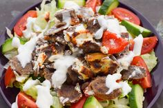 Delicious low carb kebab casserole with feta - Doner casserole! Today I really felt like a kebab. That& why I thought about how I can prepar - Low Carb Pizza, Low Carb Lunch, Low Carb Keto, Paleo Recipes, Low Carb Recipes, Kebabs, Queso, Healthy Snacks, Clean Eating