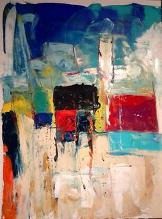 Abstract Painting by W Joe Adams 36X48 SOLD