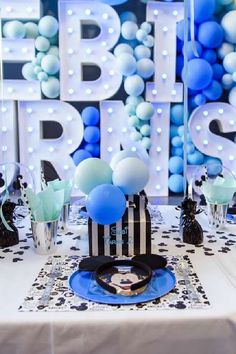 Don't miss this gorgeous Mickey Mouse birthday party! The table settings are awesome! See more party ideas and share yours at CatchMyParty.com Mickey Mouse Table, Mickey Mouse Photos, Mickey Mouse Parties, Mickey Party, Mickey Mouse Birthday, Boy Birthday Parties, For Your Party, Garland, Favors