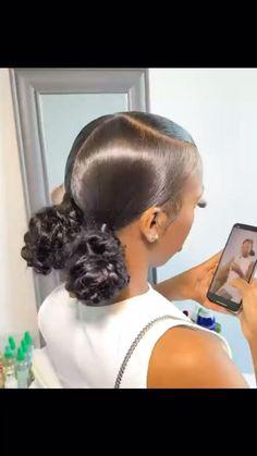 Hair Ponytail Styles, Black Girl Braided Hairstyles, Slick Hairstyles, Baddie Hairstyles, Box Braids Hairstyles, Curly Hair Styles, Natural Hair Styles, Hairstyle Ideas, Hair Ideas