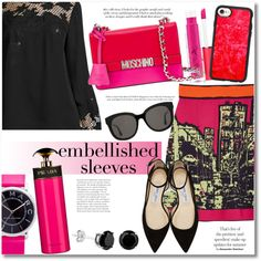 How To Wear Embellished Sleeves RP Outfit Idea 2017 - Fashion Trends Ready To Wear For Plus Size, Curvy Women Over 20, 30, 40, 50