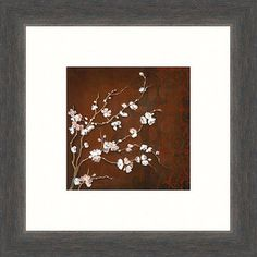 """Cherry Blossoms on Cinnabar II"" Print - $19.97"