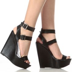 Double Ankle Strap Wedges