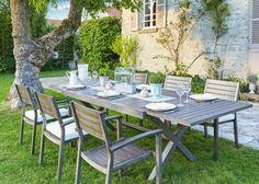 CARREFOUR Salon de jardin bas pas cher - 2 fauteuils + 1 canapé + ...