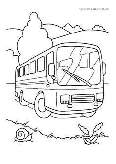 Bus Color Pages Transportation Coloring For Kids Thousands Of Free Printable