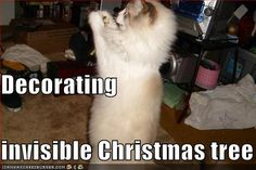 Decorating invisible Christmas tree
