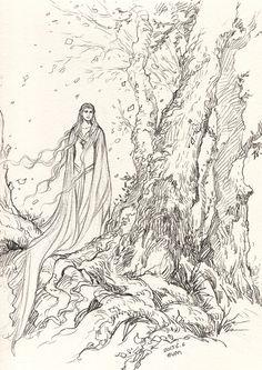 'Lady of Light' by Evankart (http://evankart.tumblr.com/archive)