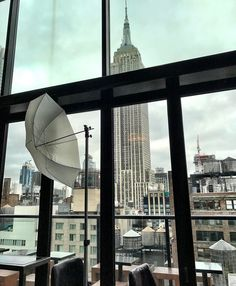 View of the Empire State Building in Manhattan from the @spyglassnyc  rooftop bar inside the @archerhotels from our shoot with the world famous @robertomatteophotography